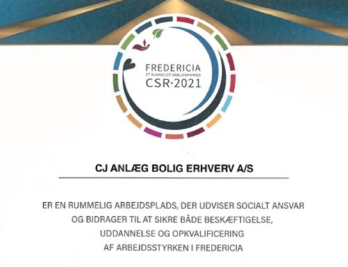 CJ A/S tildeles CSR Diplom